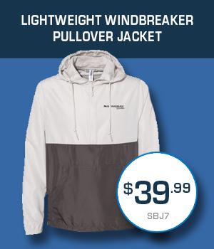 SBJ7 Lightweight Windbreaker Pullover Jacket