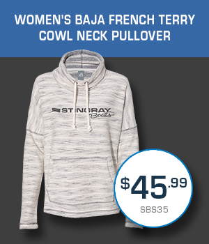 SBS35 Women's Baja French Terry Cowl Neck Pullover $45.99